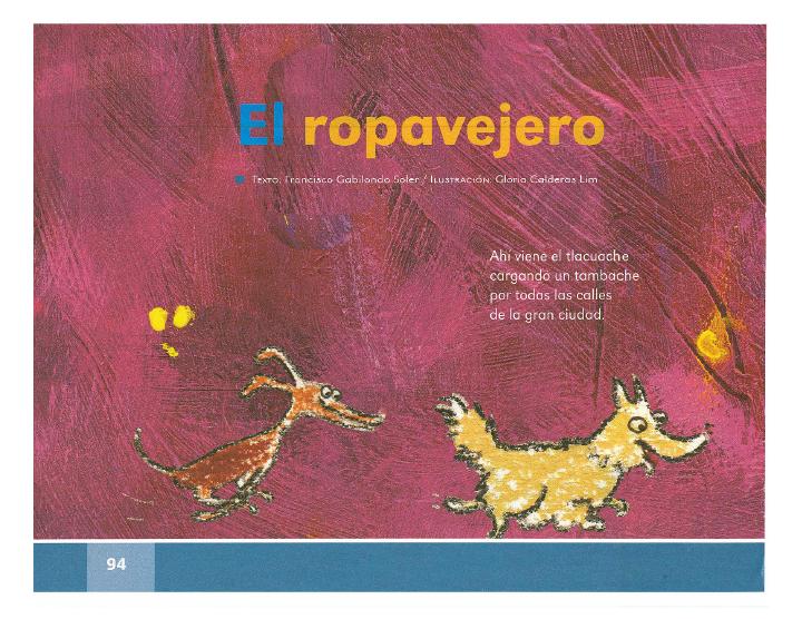 El ropavejero español lecturas 2do bloque 5/2014-2015