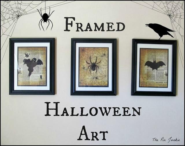 Spooky Framed Halloween Art