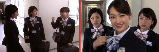 Wakamura, Sekiyama, Misaki and Hirota gather in the corridor.