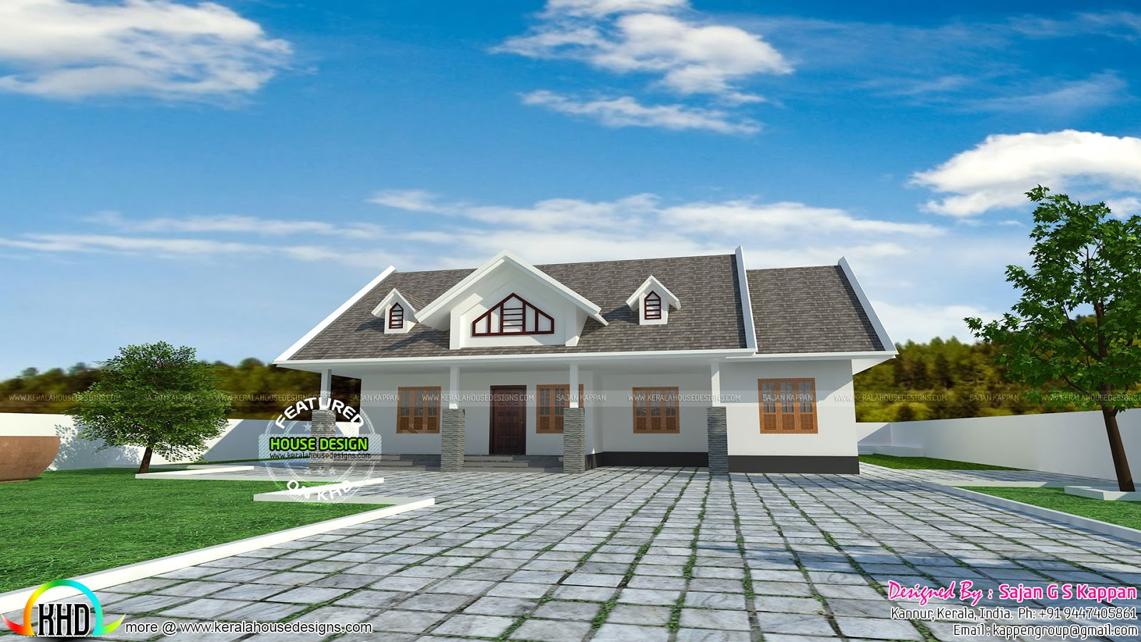 January 2016 kerala home design and floor plans for Kerala style single storey house plans