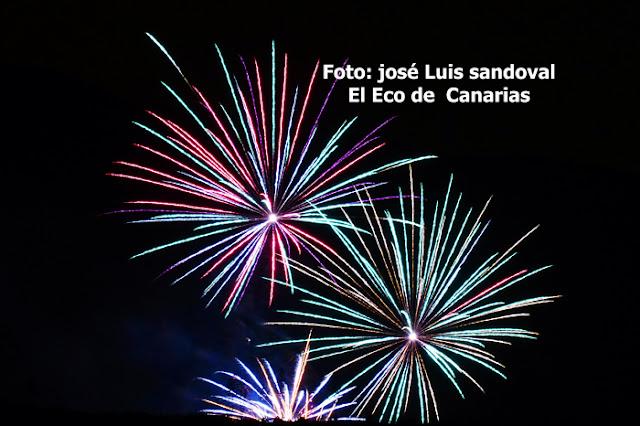 fotos y vídeo fuegos San Lorenzo 2015 Las Palmas