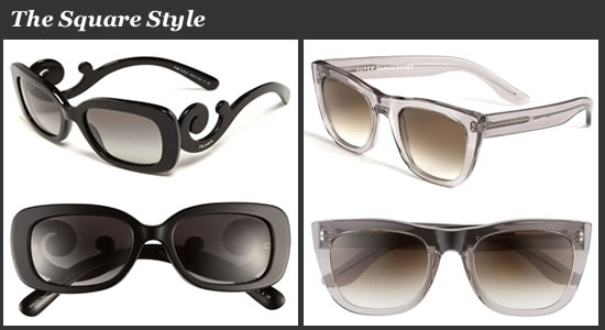 SUPER by RETROSUPERFUTURE Oversized Sunglasses and Prada Baroque Sunglasses