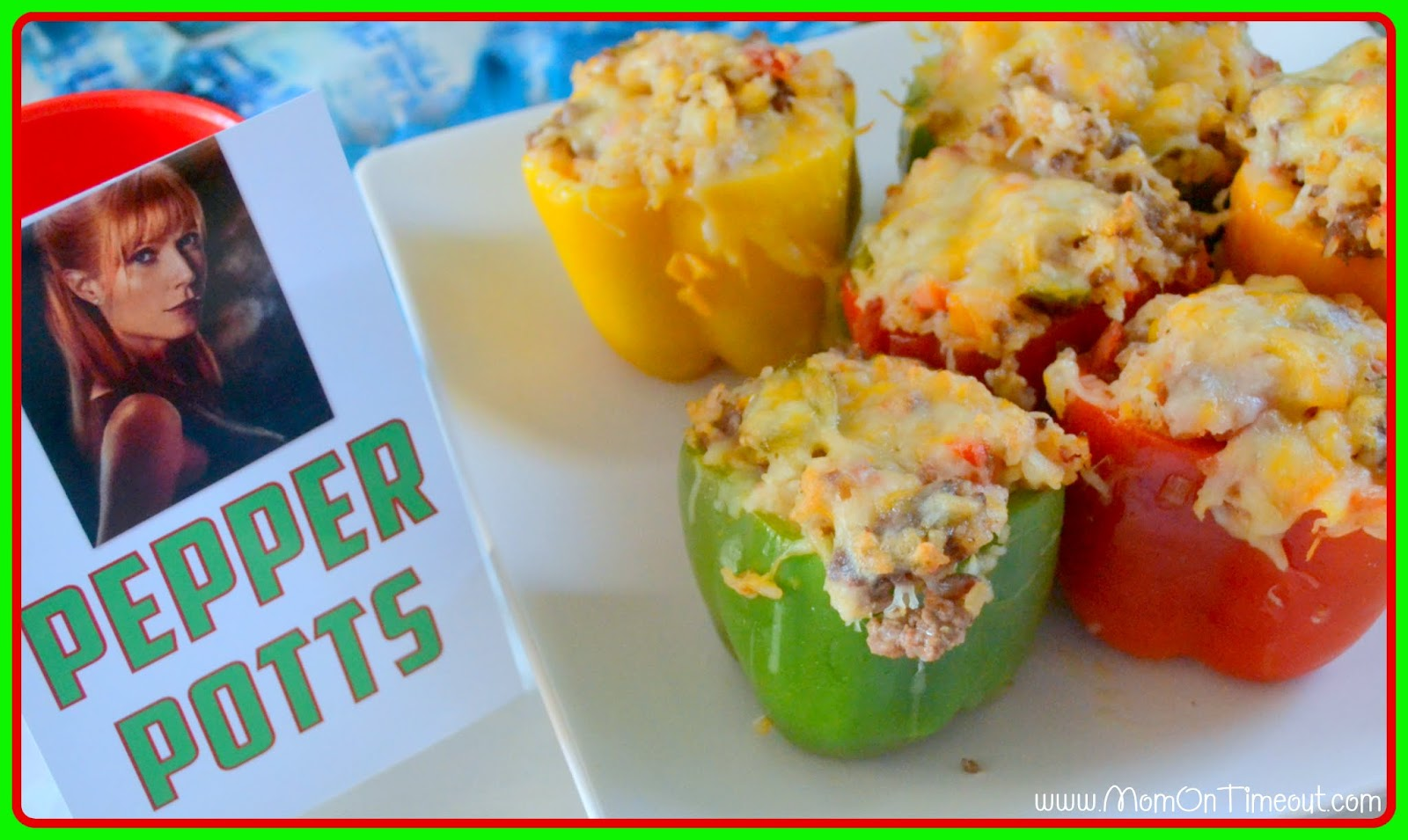 Pepper Potts' Stuffed Bell Peppers - Mom On Timeout