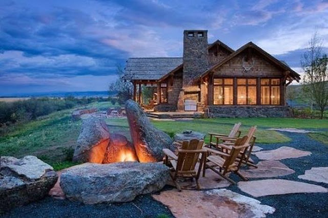 amzing rustic log cabin for private residence inspiration
