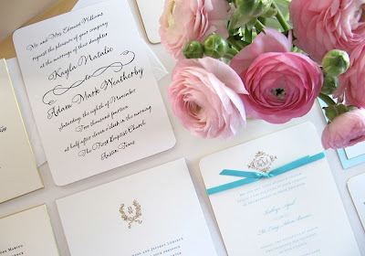 Perfect From Our William Arthur Gilt Edged Heavyweight Invitations {shown Above} To  Something Blue, Including This Vera Wang Lapis Painted Edge Invitation With  ...