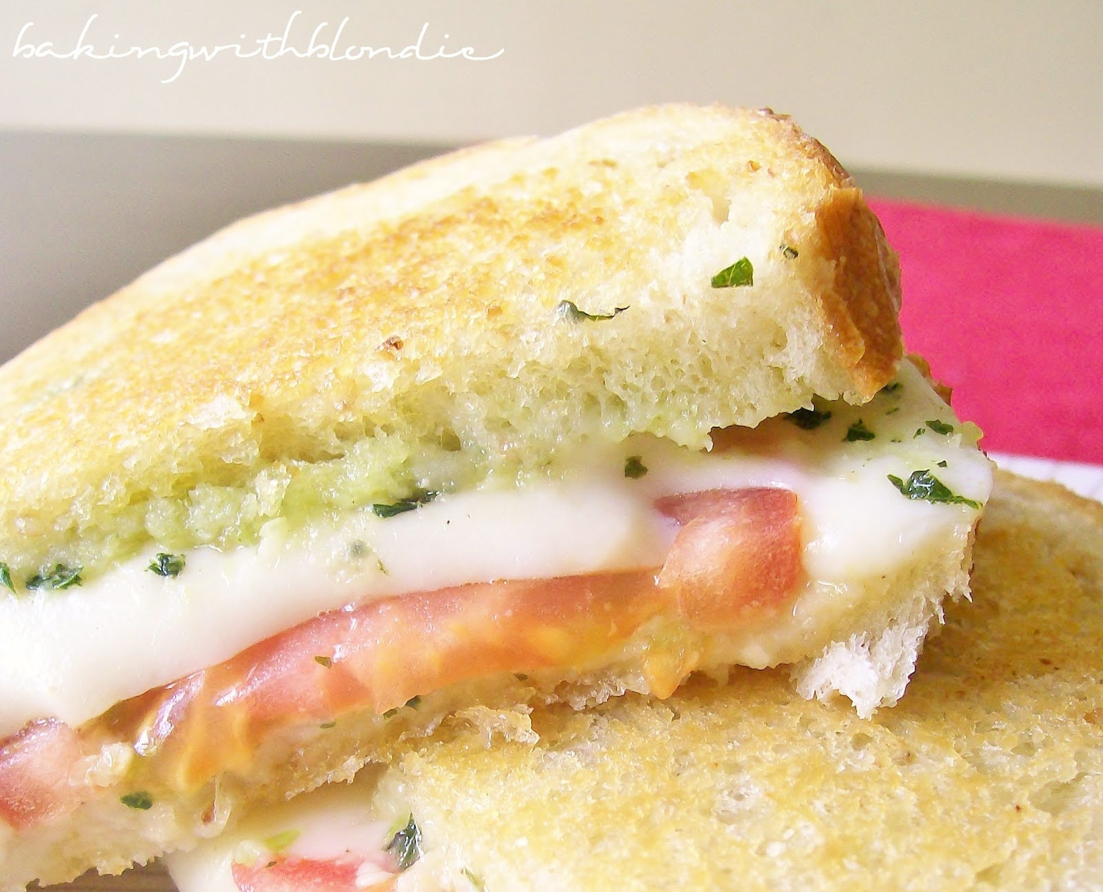 Baking with Blondie : Caprese Grilled Cheese Sandwich with Fresh ...
