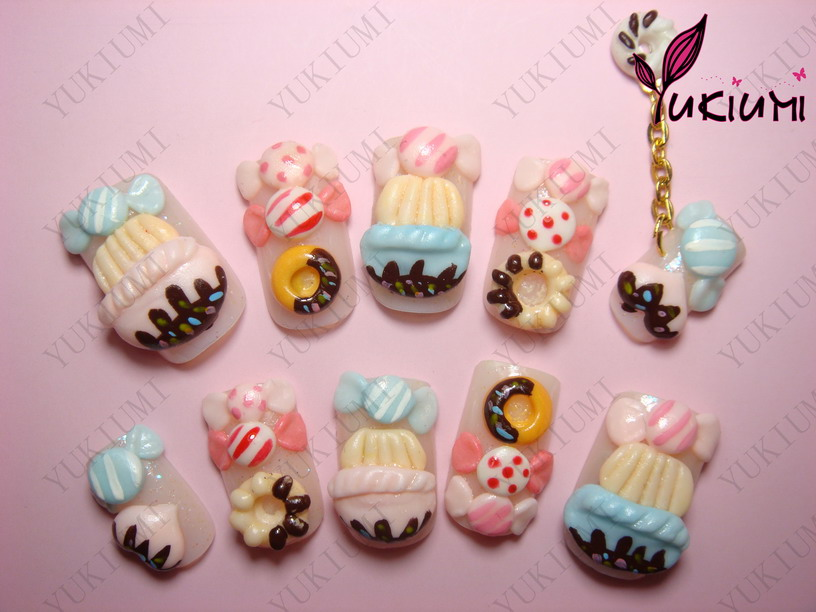 ... kawaii nails kawaii in japanese means cute and these nails are so cute