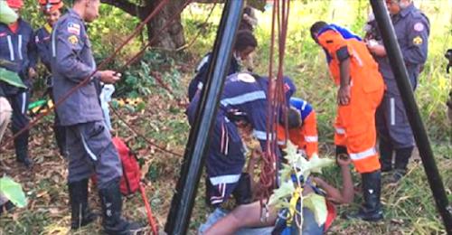 Homem é resgatado após cair em cisterna de 18 metros em Feira de Santana