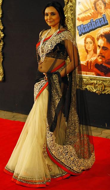 1209 -Rani Mukherjee Style Saree in Jab Tak Hai Jaan Premiere 1