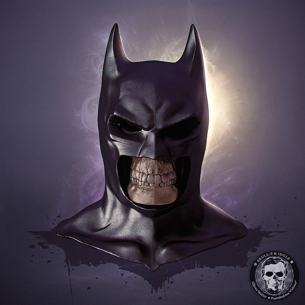 Skull portrait of Batman