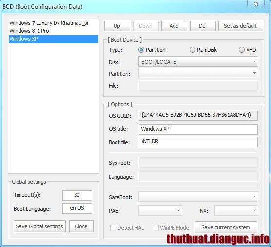 Hướng dẫn sử dụng Bootice tạo USB BOOT, Nạp MBR, PBR, quản lý phân vùng