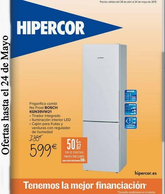 Ofertas de Electro Hipercor mayo 2015