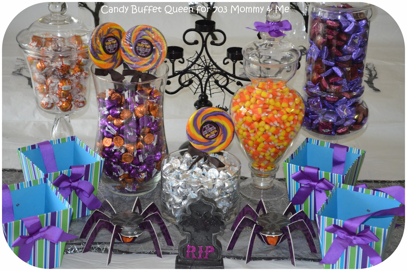 703 mommy & me: halloween party planning tips with the candy buffet