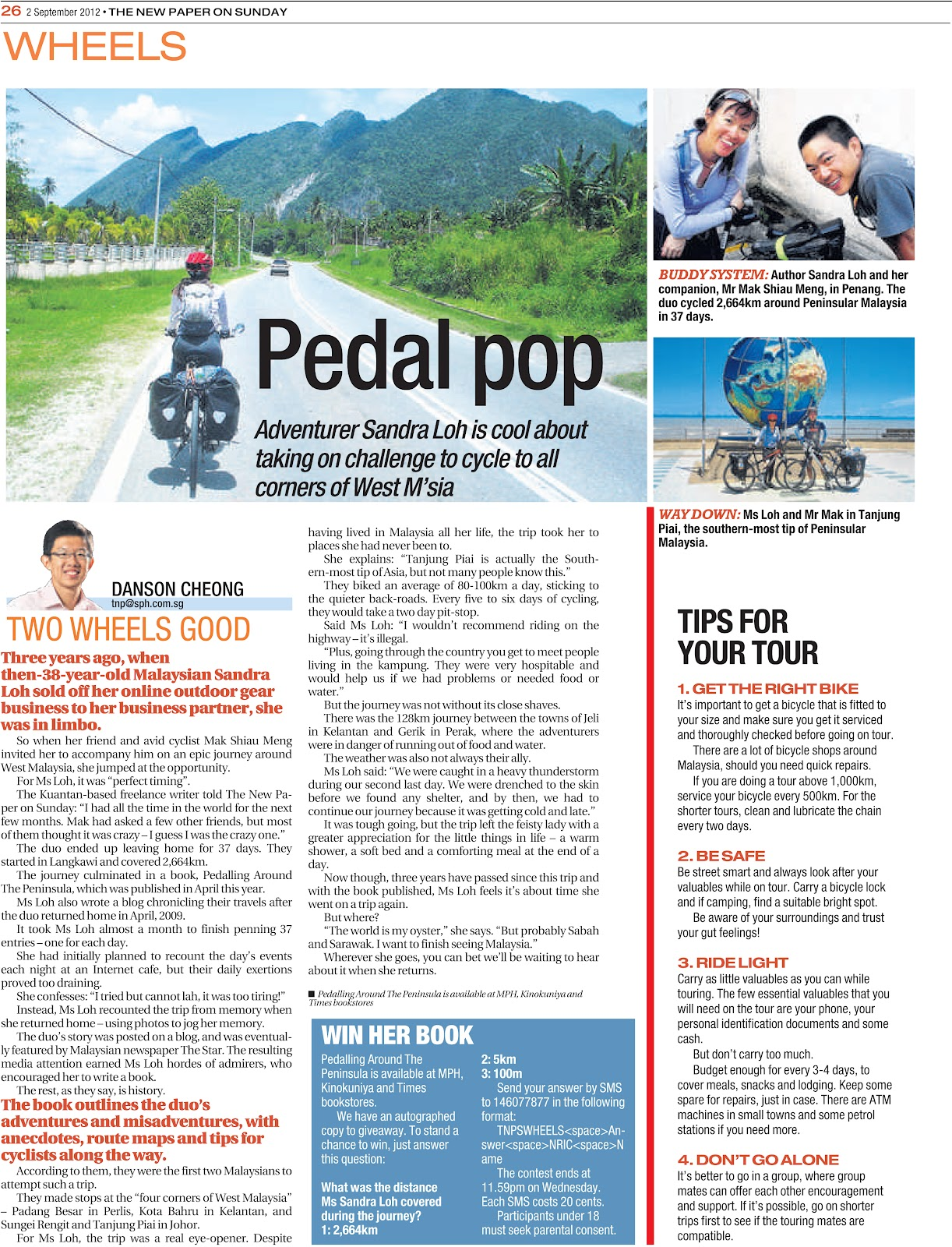 Bike Tour To The 4 Corners Of West Malaysia In 37 Days We Made It Into The Singapore Media