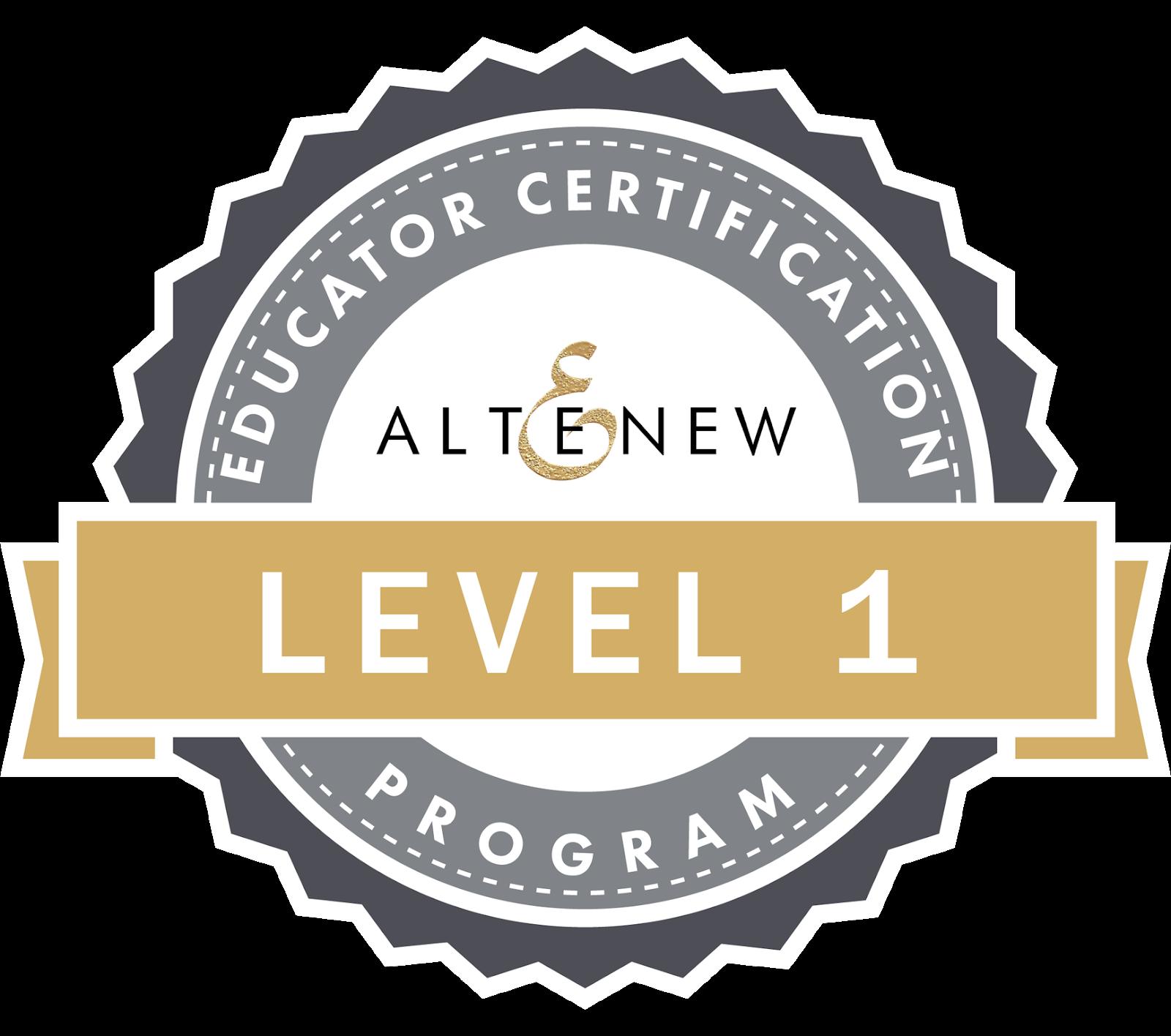 Altenew Educator Level 1