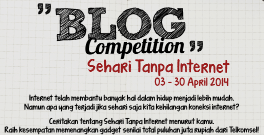 Blog Competition, Sehari Tanpa Internet dari Telkomsel
