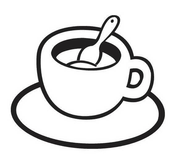 COLOREA TUS DIBUJOS: Taza de café para colorear y pintar