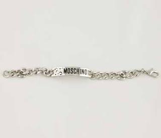 pulsera plata Moschino