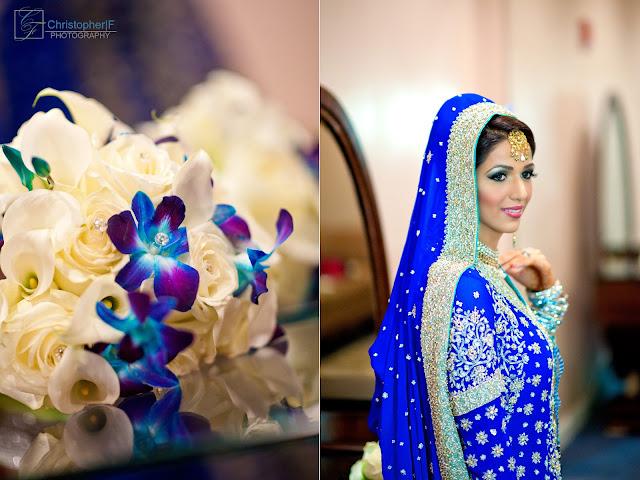 Chicago Indian Wedding Bridal Portrait