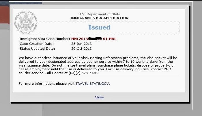 how to know visa status