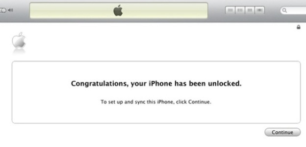 Unlock iPhone 4 iTunes
