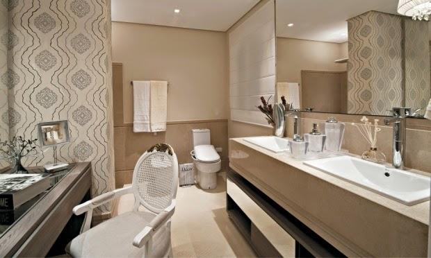 Banheiros claros branco e bege – veja modelos modernos e dicas!  Decor Salt -> Banheiro Publico Decorado