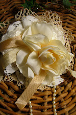 shabby chic flower pin