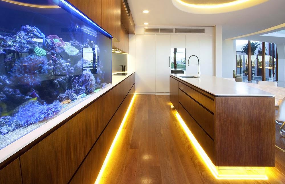 Kitchen aquariums by Mark Gacesa - Ultraspace