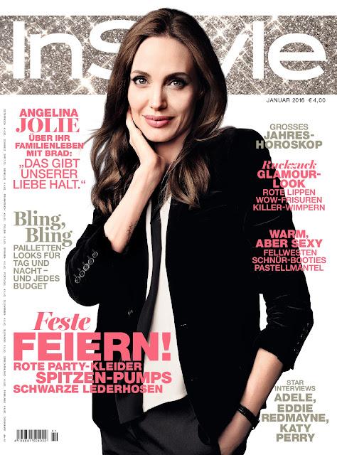 Actress, @ Angelina Jolie - InStyle Germany, January 2016