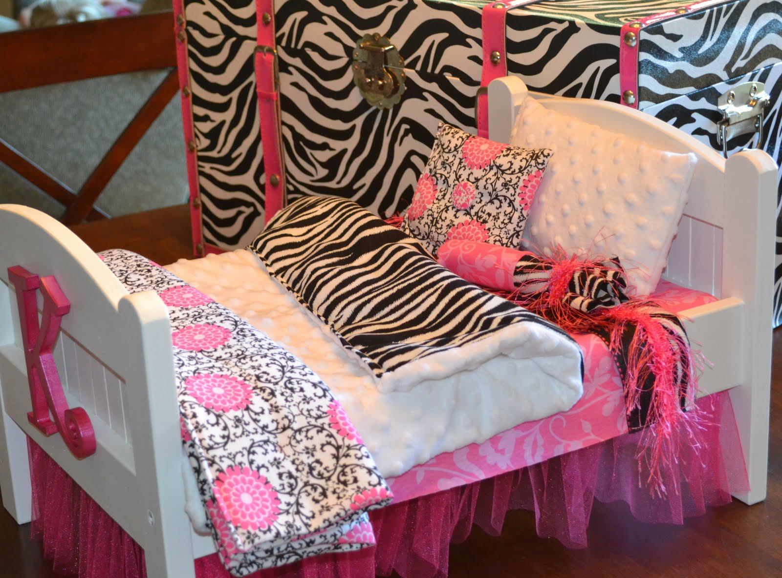 Fancy Black White and Pink Zebra Bedding