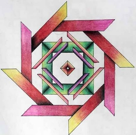 El arte en mi vida la eso for Cuadros con formas geometricas