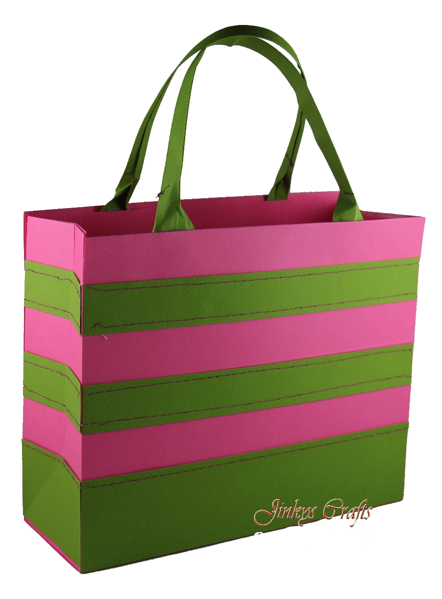 Jinky's Crafts & Designs: Stripe Tote Bag & Wedding Exploding Box ...