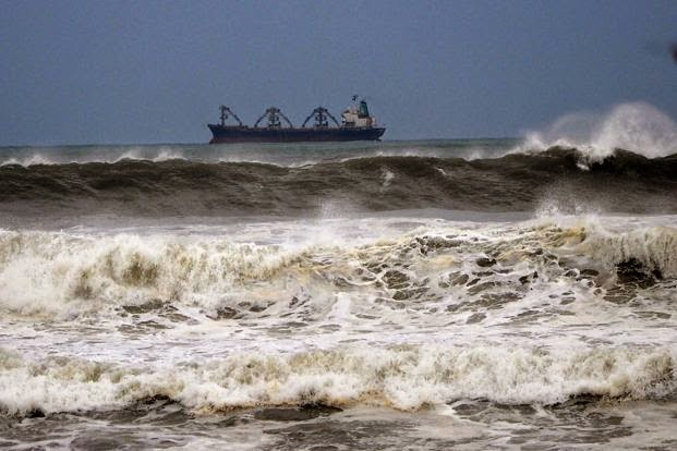 cyclone hudhud in pictures october 12 2014