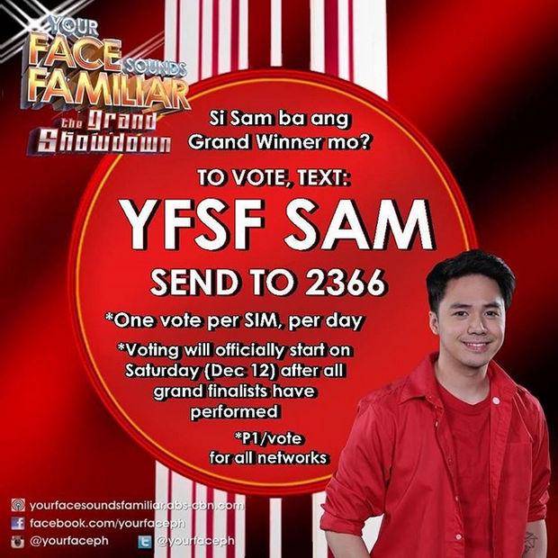 vote SAM yfsf