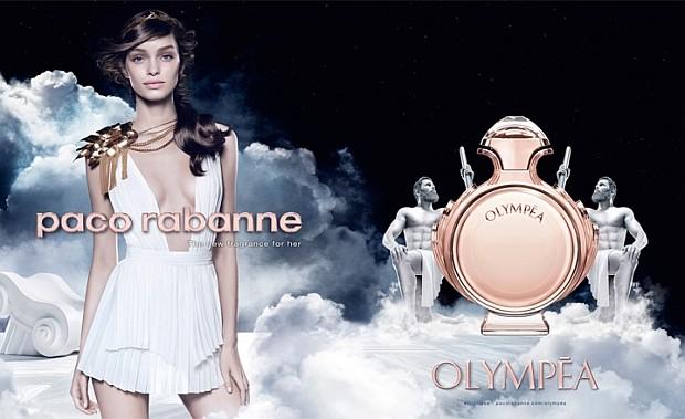 Luma Grothe w kampanii reklamowej perfum Paco Rabanne Olympea