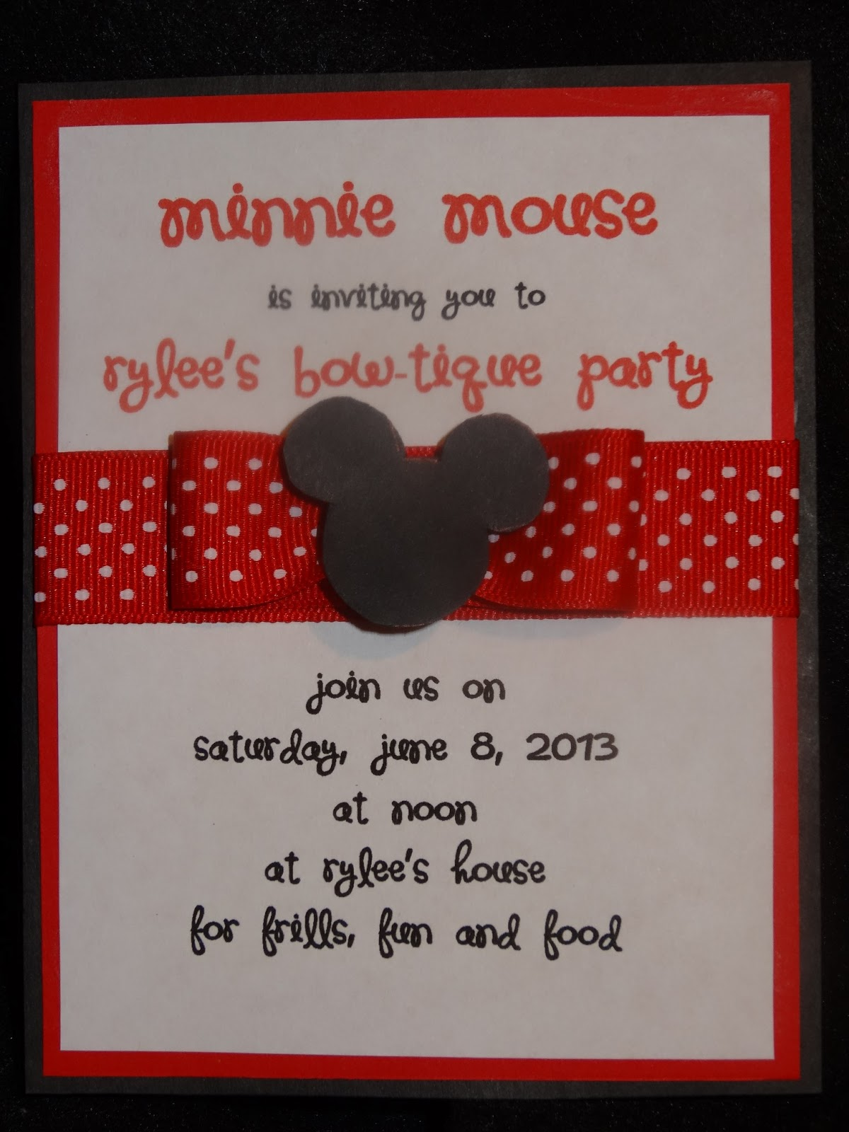 Create With Kiddos Minnie Bow Tique Party