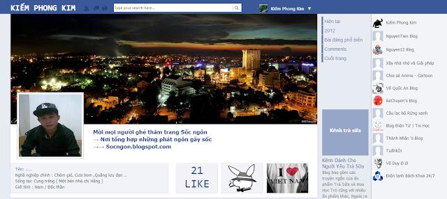 Giao diện facebook trên blogspot