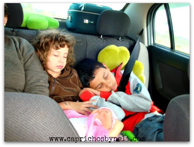 Férias, viajar de carro com as crianças
