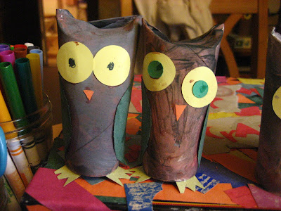 Kira 39 s crafty life blog art lesson with older kids for Toilet paper tube owls