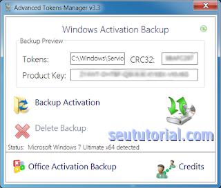 backup ativação windows 7