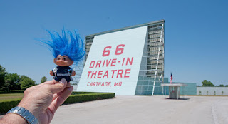 troll at the 66 Drive-In on Route 66 in Carthage Missouri