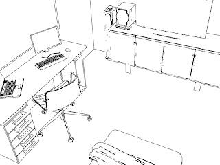 Desenhos Preto e Branco decoração quarto pronto Colorir