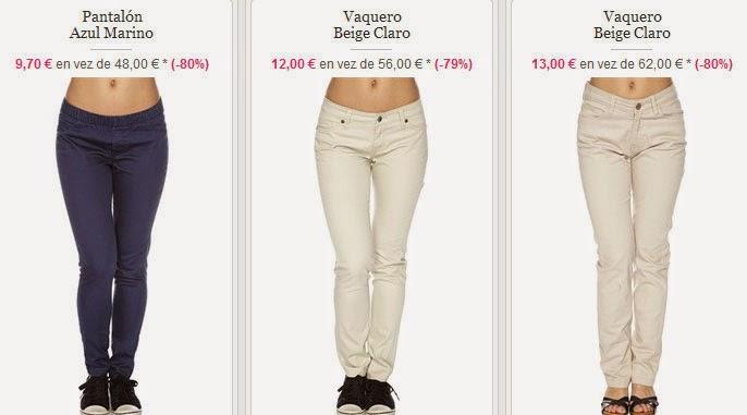 Estos y más pantalones para mujer de Cómplice en oferta