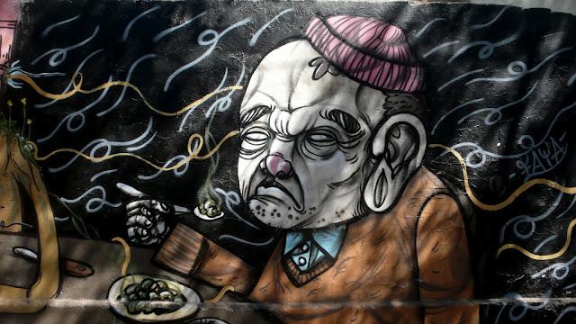 faya graffiti street art in santiago de chile