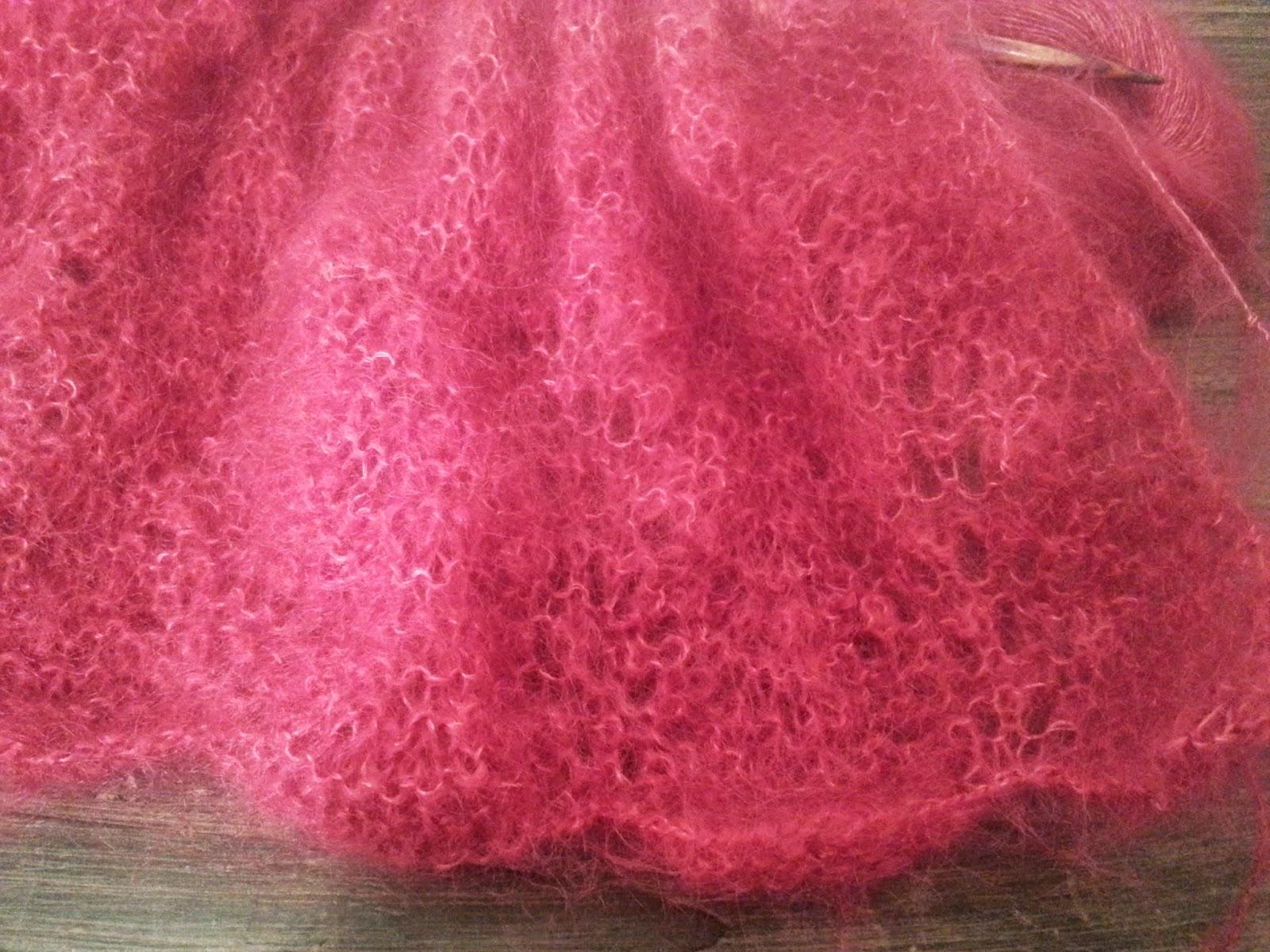 modèle tricot echarpe en mohair