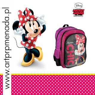 minnie mouse plecak, minnie mouse tornister, miki mouse plecak, myszka miki plecak,