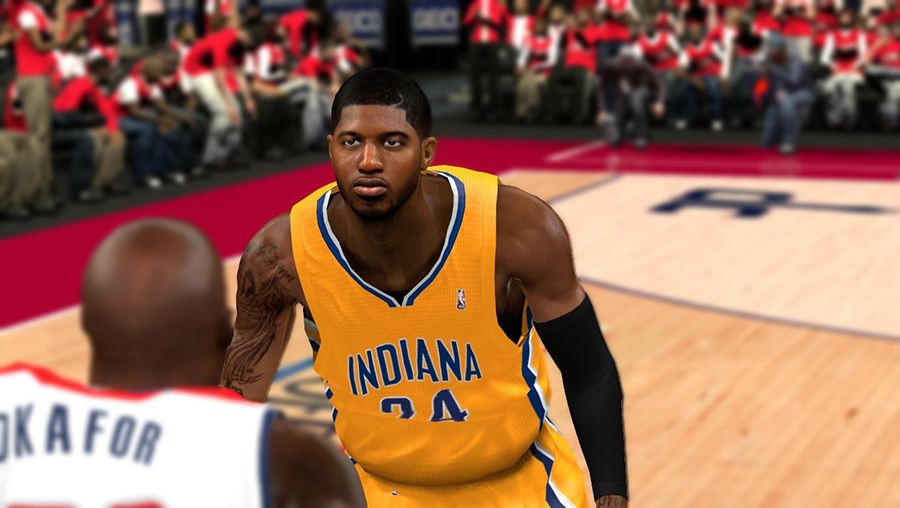 NBA 2K14 Paul George Haircut Shaved