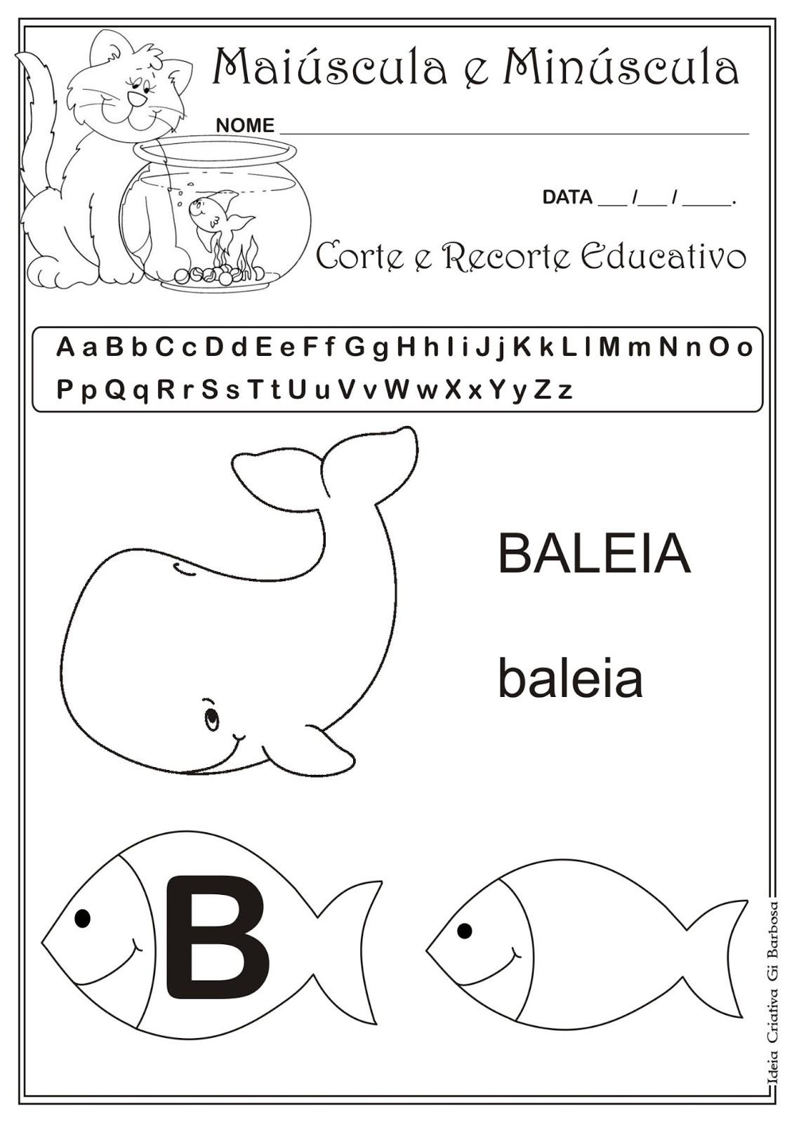 Populares Caderno de Atividades Grátis para imprimir - Corte e Recorte  JC86
