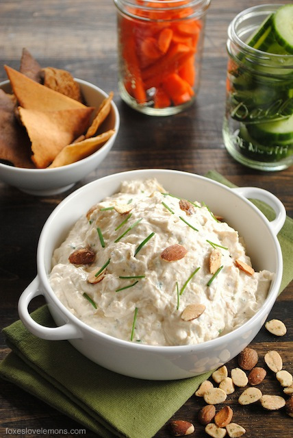 Roasted Garlic & Almond Dip