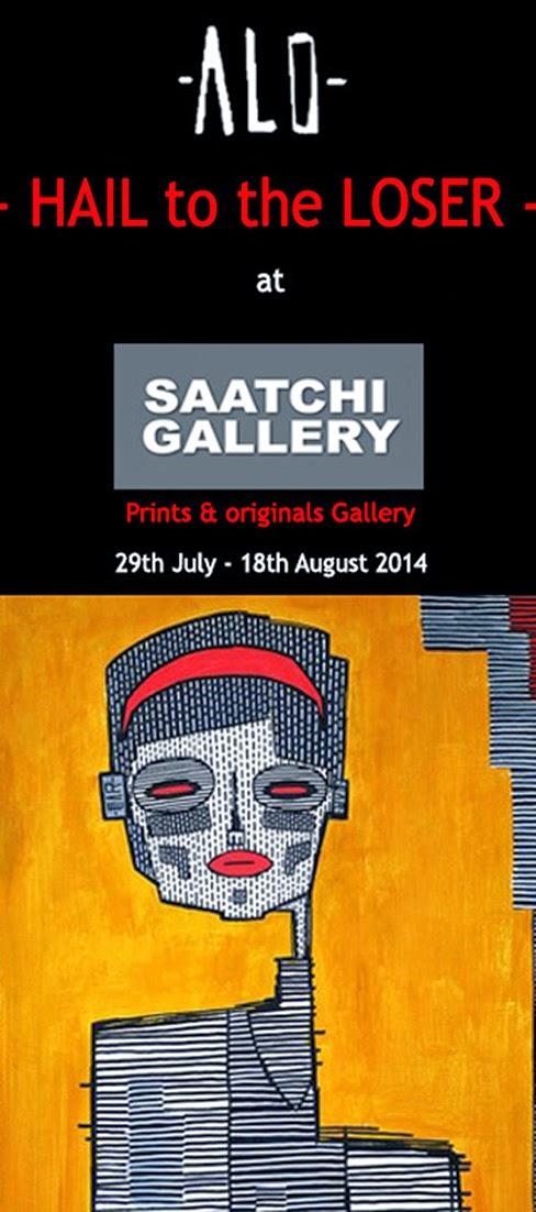 london urban art saatchi gallery alo